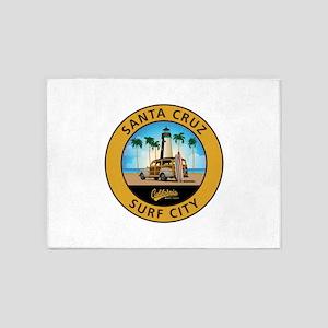 Santa Cruz Surf City Woodie 5'x7'Area Rug