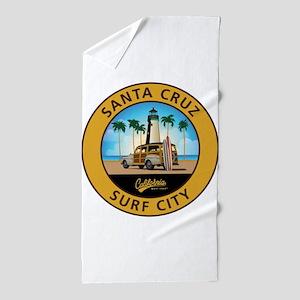 Santa Cruz Surf City Woodie Beach Towel