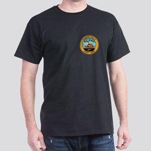Santa Cruz Surf City Woodie Dark T-Shirt