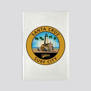 Santa Cruz Surf City Woodie Rectangle Magnet