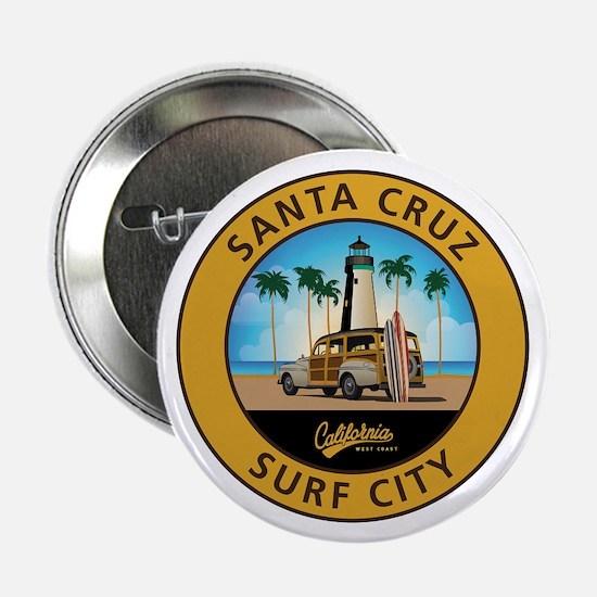 "Santa Cruz Surf City Woodie 2.25"" Button (10 pack)"