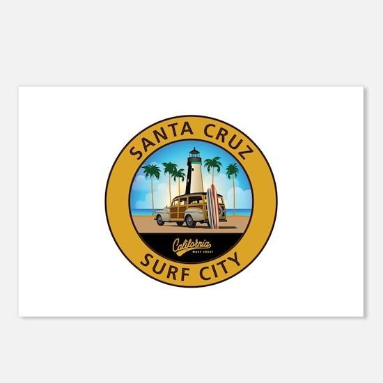 Santa Cruz Surf City Wood Postcards (Package of 8)
