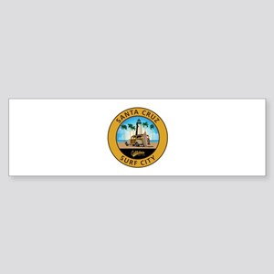 Santa Cruz Surf City Woodie Sticker (Bumper)