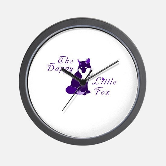 A happy little fox Wall Clock