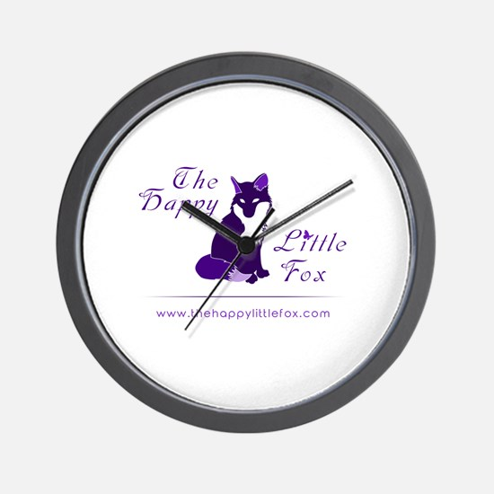 The happy little fox Wall Clock