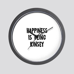Happiness is being Kinsey Wall Clock