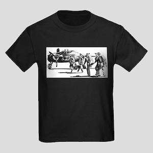 B-25 Crew Walking to Bomber Ash Grey T-Shirt
