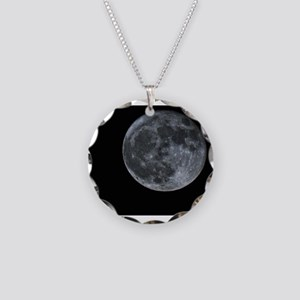Moon Beauty Necklace Circle Charm