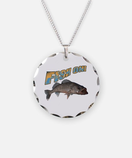 Fish on walleye color Necklace