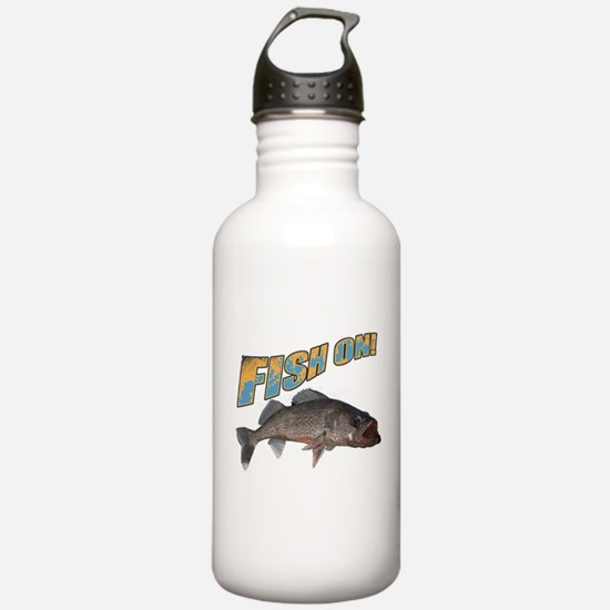 Fish on walleye color Water Bottle