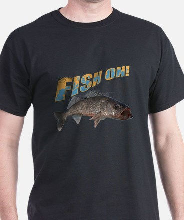 Fish on walleye color T-Shirt