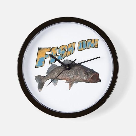 Fish on walleye color Wall Clock