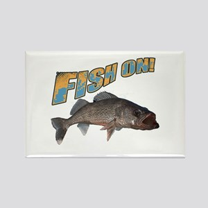 Fish on walleye color Rectangle Magnet