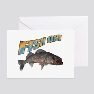 Fish on walleye color Greeting Card