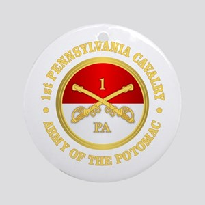 1st Pennsylvania Cavalry Round Ornament