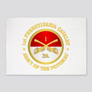 1st Pennsylvania Cavalry 5'x7'Area Rug