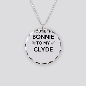 Bonnie and Clyde shirts Necklace Circle Charm