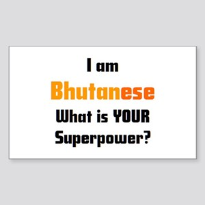 i am bhutanese Sticker (Rectangle)