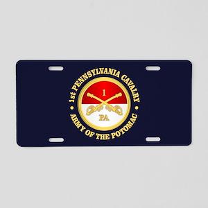 1st Pennsylvania Cavalry Aluminum License Plate