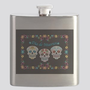 Sugar Skulls Flask