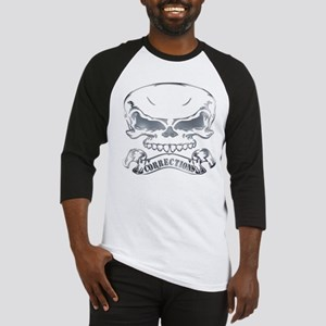 corrections banner with skull copy Baseball Jersey