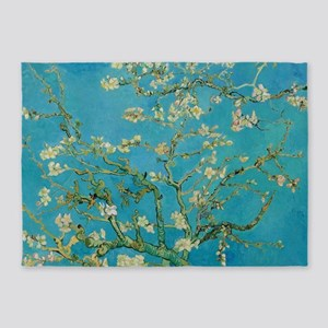 Blossoming Almond Tree by Van 5'x7'Area Rug