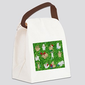 xmas sloth Canvas Lunch Bag