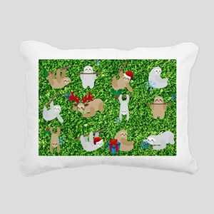 xmas sloth Rectangular Canvas Pillow