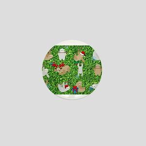 xmas sloth Mini Button