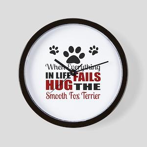 Hug The Smooth Fox Terrier Wall Clock