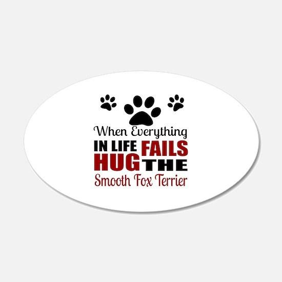 Hug The Smooth Fox Terrier Wall Decal