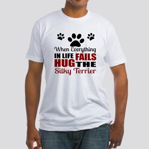 Hug The Silky Terrier Fitted T-Shirt