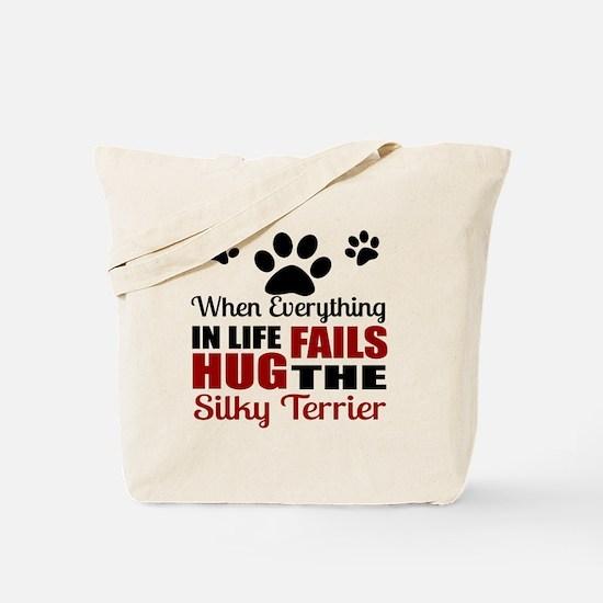 Hug The Silky Terrier Tote Bag