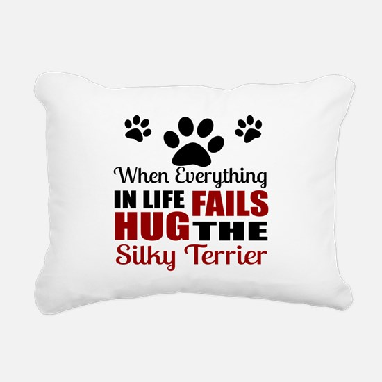 Hug The Silky Terrier Rectangular Canvas Pillow