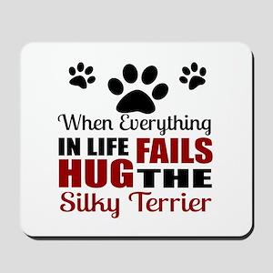 Hug The Silky Terrier Mousepad