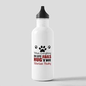 Hug The Siberian Husky Stainless Water Bottle 1.0L