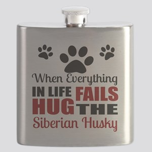 Hug The Siberian Husky Flask