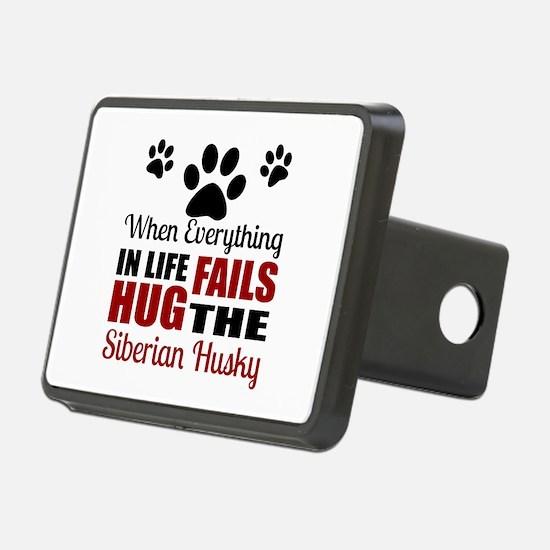 Hug The Siberian Husky Hitch Cover