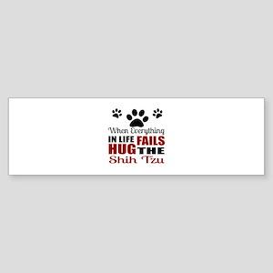 Hug The Shih Tzu Sticker (Bumper)