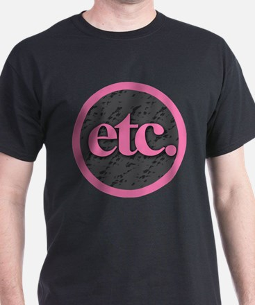 Etc. - Etc - Pink Gray Black T-Shirt