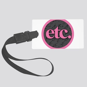 Etc. - Etc - Pink Gray Black Large Luggage Tag