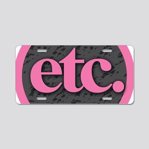 Etc. - Etc - Pink Gray Blac Aluminum License Plate