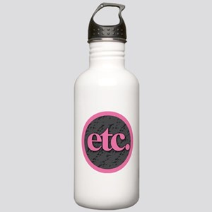 Etc. - Etc - Pink Gray Stainless Water Bottle 1.0L