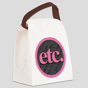Etc. - Etc - Pink Gray Black Canvas Lunch Bag