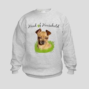 Head of Household Chihuahua Kids Sweatshirt