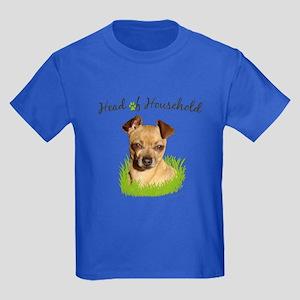 Head of Household Chihuahua Kids Dark T-Shirt