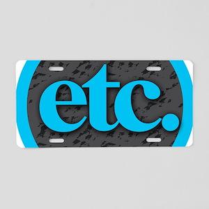 Etc. - Etc - Blue Gray Blac Aluminum License Plate