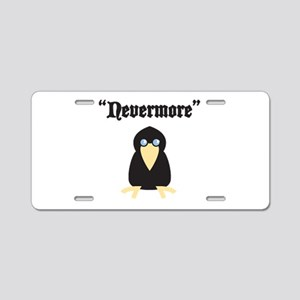 Poe the Crow Aluminum License Plate