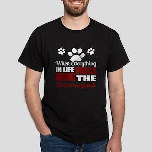 Hug The Samoyed Dark T-Shirt