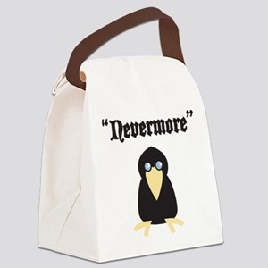 Poe the Crow Canvas Lunch Bag